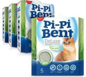 Pi-Pi Bent DeLuxe Fresh grass 5 кг комкующийся наполнитель для кошачьих туалетов 1х4