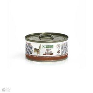 NATURE'S PROTECTION ADULT BEEF & LAMB 100г консервы полнорационное питание с говядиной и ягненком для взрослых кошек 1х6