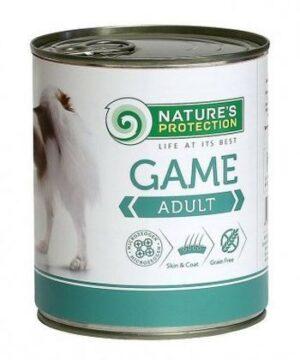 NATURE'S PROTECTION ADULT GAME 400г консервы полнорационное питание с мясом дичи для взрослых собак 1х6