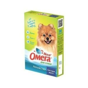 ОМЕГА NEO+ БЛЕСТЯЩАЯ ШЕРСТЬ 90 таб витамины для собак биотин 1х5
