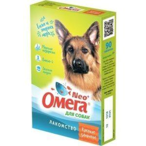 ОМЕГА NEO+ КРЕПКОЕ ЗДОРОВЬЕ 90 таб витамины для собак морские водоросли 1х5