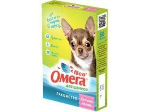 ОМЕГА NEO+ ВЕСЕЛЫЙ МАЛЫШ 60 таб витамины для щенков пребиотик 1х5