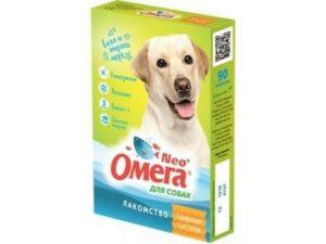 ОМЕГА NEО+ ЗДОРОВЫЕ СУСТАВЫ 90 таб лакомство для собак с глюкозамином и коллагеном 1х5