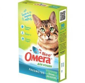 ОМЕГА NEО+ 90 таб лакомство для кошек с кошачьей мятой 1х5