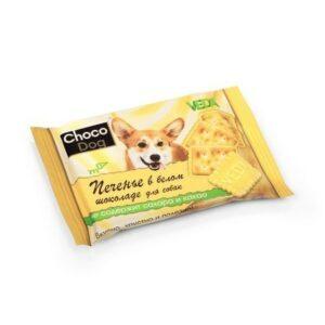 VEDA CHOCO DOG 30 г печенье в белом шоколаде лакомство для собак 1х14