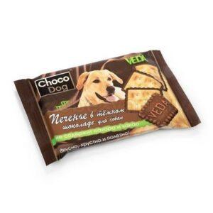 VEDA CHOCO DOG 30 г печенье в темном шоколаде лакомство для собак 1х14