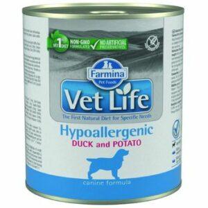FARMINA VET LIFE NATURAL DIET DOG HYPOALLERGENIC DUCK & POTATO 300 г консервы паштет диета гипоаллергеная для собак утка с картофелем 1х6