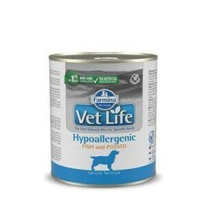 FARMINA VET LIFE NATURAL DIET DOG HYPOALLERGENIC FISH & POTATO 300г консервы паштет диета гипоаллергенная для собак рыба с картофелем 1х6