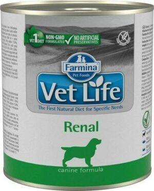 FARMINA VET LIFE NATURAL DIET DOG RENAL 300г консервы паштет диета при заболеваниях мочевыводящих путей 1х6