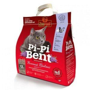 Pi-Pi Bent Нежный прованс 5 кг комкующийся наполнитель для кошачьих туалетов крафтовй пакет 1х4