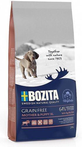 BOZITA GRAIN FREE Mother & Puppy XL Elk 29/14 12 кг сухой корм беззерновой для щенков и юниоров крупных пород
