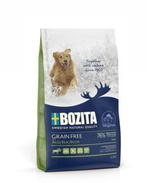 BOZITA GRAIN FREE Elk 26/16 12 кг сухой беззерновой корм для взрослых собак с нормальным уровнем активности с лосем