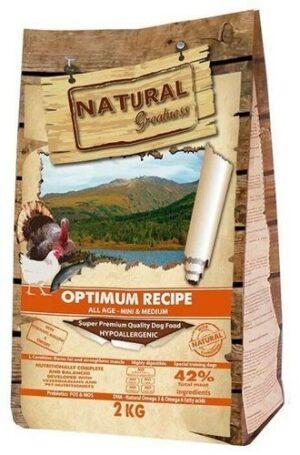 NATURAL GREATNESS OPTIMUM RECIPE MINI & MEDIUM 2 кг сухой корм с индейкой и курицей для собак мелких и средних пород 1х6
