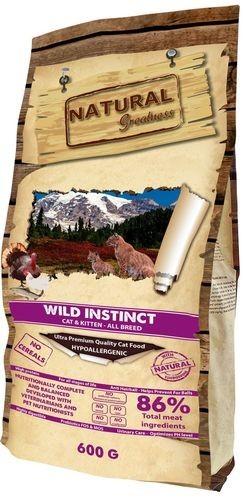NATURAL GREATNESS WILD INSTINCT 600 г сухой корм для кошек всех пород и возрастов 1х20