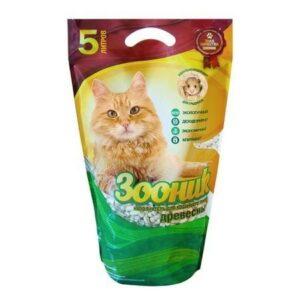 ЗООНИК 20 л древесный наполнитель для кошачьих туалетов