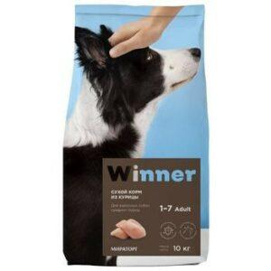 WINNER 10 кг сухой корм для взрослых собак крупных пород курица