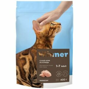 WINNER 400 г сухой корм для взрослых кошек всех пород курица 1х10
