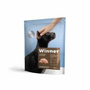 WINNER 400 г сухой корм для кошек с мочекаменной болезнью курица 1х10