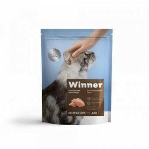 WINNER 400 г сухой корм для стерилизованных кошек курица 1х10