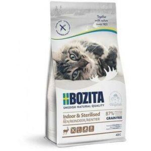 BOZITA Indoor & Sterilized GF Reindeer 33/14 400 г сухой беззерновой корм для стерилизованных