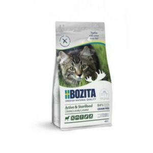 BOZITA Active & Sterilized GF Lamb 33/20 400 г сухой беззерновой корм для стерилизованных