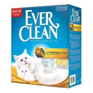 EVER CLEAN LitterFree Paws 6 л комкующийся наполнитель для длинношерстных кошек и котят с ароматом свежести