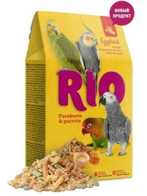 RIO Eggfood 250 г яичный корм для средних и крупных попугаев 1х5