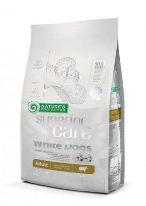 NATURE'S PROTECTION White Dogs полноценный корм для взрослых белошерстных собак мелких и карликовых пород