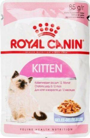 ROYAL CANIN KITTEN 85 г пауч желе влажный корм для котят в возрасте до 12 месяцев 1х24
