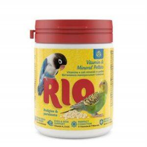 RIO 120 г витаминно-минеральные гранулы для волнистых и средних попугаев 1х6