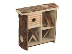HOMEPET 10 см х 24 см х 25 см домик для грызунов лабиринт деревянный