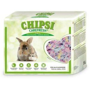 CHIPSI CAREFRESH Confetti 5 л разноцветный бумажный наполнитель для мелких домашних животных и птиц