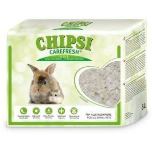 CHIPSI CAREFRESH Pure White 5 л белый бумажный наполнитель для мелких домашних животных и птиц 1х8