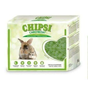 CHIPSI CAREFRESH Forest Green 5 л зеленый бумажный наполнитель для мелких домашних животных и птиц 1х8