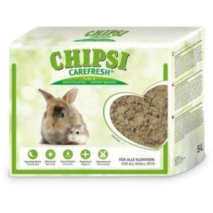 CHIPSI CAREFRESH Original 5 л бумажный наполнитель для мелких домашних животных и птиц 1х8