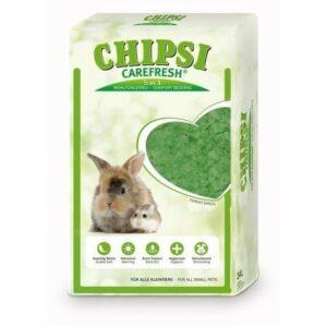 CHIPSI CAREFRESH Forest Green 14 л зеленый бумажный наполнитель для мелких домашних животных и птиц 1х4