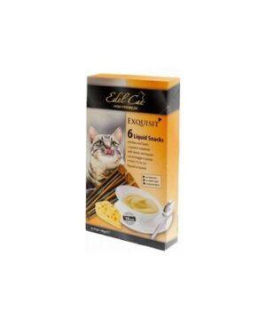 EDEL CAT 6 шт лакомство для кошек крем суп сыр и таурин 1х11
