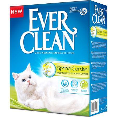 EVER CLEAN SPRING GARDEN 6 л комкующийся наполнитель c нежным ароматом весеннего сада