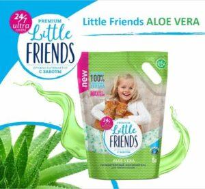 Little Friends 5 л Aloe Vera силикагелевый наполнитель для кошачьих туалетов п/м пакет 1х6