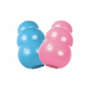 KONG Puppy игрушка для щенков классик S  маленькая цвета в ассортименте: розовый, голубой