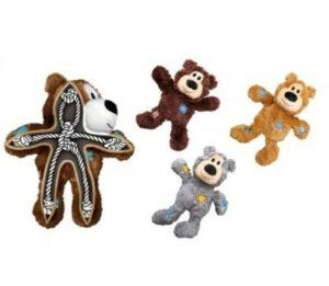 """KONG игрушка для мелких собак WildKnots """"Мишка"""" плюш с канатом внутри в ассортименте"""
