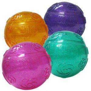 KONG игрушка для собак Squezz Crackle хрустящий мячик большой  цвета в ассортименте