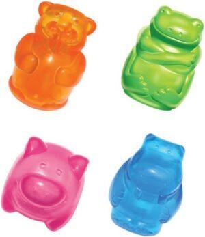 KONG игрушка для собак Сквиз Джелс  средняя в ассортименте (бобер, бегемот, свинка, лягушка)