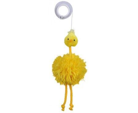 Игрушка д/к Цыпленок с колокольчиком, на резинке TRIXIE плюш