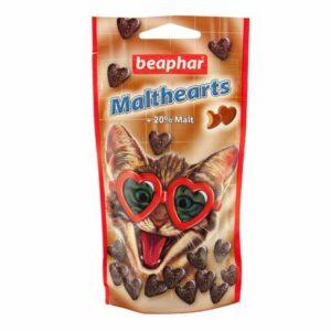BEAPHAR Malt-Hearts  сердечки для кошек с мальт пастой