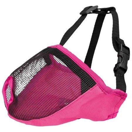 Намордник Trixie для короткомордых пород, полиэстер, М: 27 cм, розовый