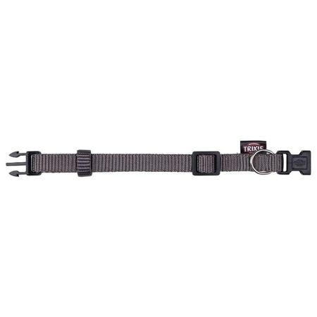 TRIXIE Ошейник д/собак Premium p-p XS-S 22-35см/10мм, темно-серый NEW