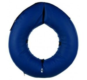 TRIXIE  M-L воротник защитный надувной синий