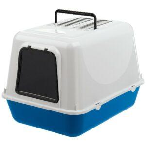 Туалет CLEAR CAT 20 закрытый с угольным фильтром для кошек, синий