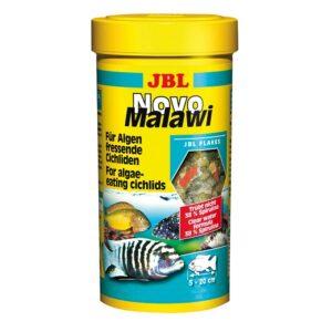 JBL NovoMalawi - Основной корм в форме хлопьев для растительноядных цихлид, 250 мл (40 г)